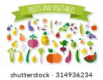 vector illustration.  fruits... | Shutterstock .eps vector #314936234