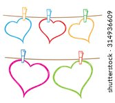 vector doodle frames for text... | Shutterstock .eps vector #314936609