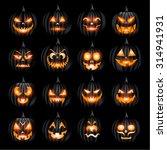 Creepy Halloween Jack O Lanter...