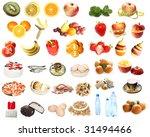 food  fruit and vegetable set... | Shutterstock . vector #31494466