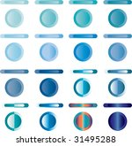 blue web buttons and bars | Shutterstock .eps vector #31495288