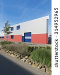 exterior of a modern warehouse... | Shutterstock . vector #314952965