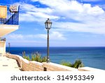 promenade by the seaside in... | Shutterstock . vector #314953349