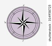 wind rose  vector   Shutterstock .eps vector #314958725