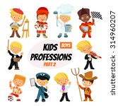 big set of cute cartoon...   Shutterstock .eps vector #314960207