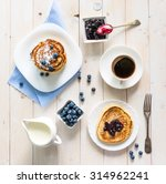 pancakes with blueberry and... | Shutterstock . vector #314962241