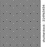 seamless monochrome vector... | Shutterstock .eps vector #314965454
