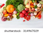 collection fruits and... | Shutterstock . vector #314967029