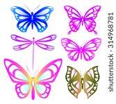 butterflies design | Shutterstock . vector #314968781