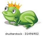 illustration of frog on white   Shutterstock . vector #31496902