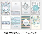 stock vector set of brochures... | Shutterstock .eps vector #314969951