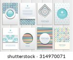 stock vector set of brochures... | Shutterstock .eps vector #314970071