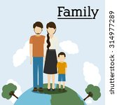 family digital design  vector... | Shutterstock .eps vector #314977289