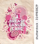 Breast Cancer Care Typography...