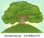 Illustration Of A Giant Tree On ...