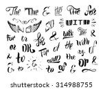 vintage style hand drawn... | Shutterstock .eps vector #314988755