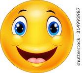 happy smiley emoticon face on...   Shutterstock .eps vector #314993987