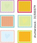 illustration of six square... | Shutterstock . vector #31500379