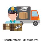 delivery concept shipping icons ...   Shutterstock .eps vector #315006491