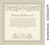 vintage background with... | Shutterstock .eps vector #315016679