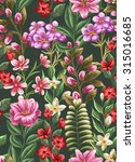 floral seamless pattern with... | Shutterstock .eps vector #315016685