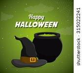 happy halloween festival party... | Shutterstock .eps vector #315022241