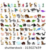 set of cute cartoon animals | Shutterstock .eps vector #315027659