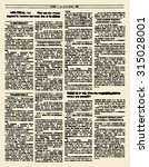 old newspaper. vintage magazine ... | Shutterstock .eps vector #315028001