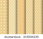 set of arabic patterns.... | Shutterstock .eps vector #315034235