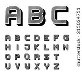 vector 3d black striped font... | Shutterstock .eps vector #315034751