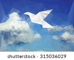 vector illustration with paper... | Shutterstock .eps vector #315036029