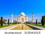 The Taj Mahal Is A White Marbl...