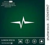 heart beat  cardiogram. pulse...   Shutterstock .eps vector #315045947
