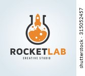 rocket lab logo template. | Shutterstock .eps vector #315052457