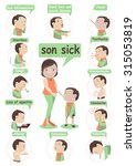 mother and son were sick... | Shutterstock .eps vector #315053819