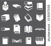book icons set illustration | Shutterstock .eps vector #315057035