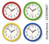 Set Of Round Wall Clock With...