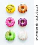 colorful donuts | Shutterstock . vector #315061115