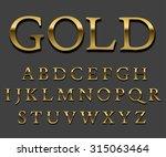 tarnished gold font set. letter ...   Shutterstock .eps vector #315063464