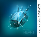 light segment heart polygonal... | Shutterstock .eps vector #315066071
