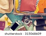 holiday suitcase | Shutterstock . vector #315068609