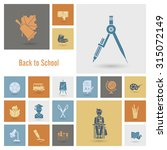 school and education icon set.... | Shutterstock . vector #315072149