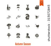set of flat autumn icons.... | Shutterstock . vector #315072845