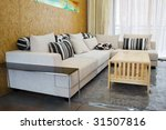 the sofa in a modern living room | Shutterstock . vector #31507816