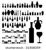 bottles   vases   and glass... | Shutterstock .eps vector #31508359