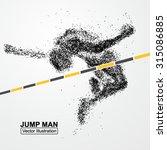 high jump man vector graphics... | Shutterstock .eps vector #315086885