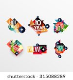 set of labels  stickers ... | Shutterstock .eps vector #315088289