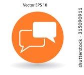 dialogue vector icon