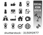 social icons set | Shutterstock .eps vector #315093977
