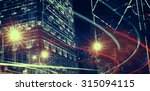 night view of blurry lights in...   Shutterstock . vector #315094115